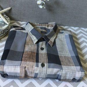 Authentic , Burberry , plaid cotton shirt